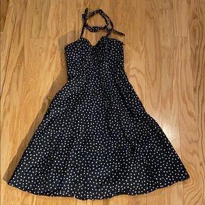 White House Black Market polka dot dress size 00